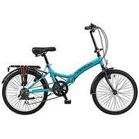 Viking Viking Metropolis 13 Inch Frame, 20 Inch Wheel, 6-Speed Folding Bike - Blue