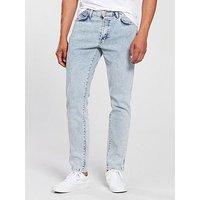 Wrangler Slider Regular Tapered Jean - Light Bleach, Light Bleach, Size 30, Inside Leg Regular, Men