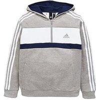 adidas Boys Fleece Track Top - Grey , Grey, Size 9-10 Years
