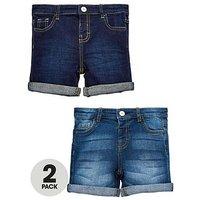 Mini V by Very Boys 2 Pack New Washes Denim Shorts, Denim, Size Age: 4-5 Years