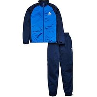 adidas Boys Tracksuit - Blue , Navy, Size 7-8 Years