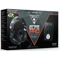 Turtle Beach Elite Pro Tournament Gaming Headset Pc/Ps4/Xb1 + Tactical Audio Controller Bundle