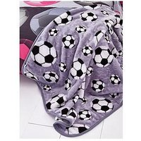 Catherine Lansfield Football Throw, Grey