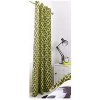 Catherine Lansfield Neon Football Eyelet Curtains in Yellow, Yellow