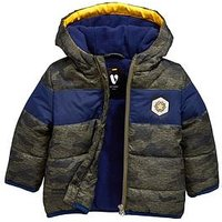 Mini V by Very Baby Boys Camo Panel Coat, Multi, Size Age(Months): 3-6 Months (17.5Lbs)