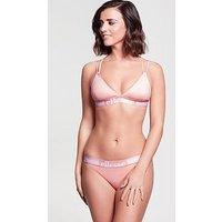 Ellesse Branded Trim Bikini Bottom - Pink , Pink, Size 14, Women