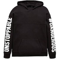 Boys, V by Very UNSTOPPABLE HOODY, Black, Size 10 Years