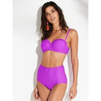 V by Very Mix & Match High Waist Bikini Brief - Purple, Purple, Size 24, Women