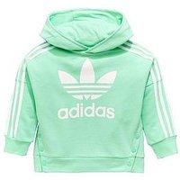 adidas Originals ADIDAS ORIGINALS YOUNGER GIRLS SNAP HOODIE, Mint, Size 3-4 Years, Women