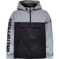 Boys, V by Very Reflective Overhead Jacket, Black/Silver, Size Age: 6 Years