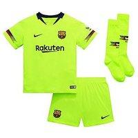 Boys, Nike Little Kids Barcelona 18/19 Away Kit - Volt, Volt/Deep Royal Blue, Size Xs (3-4 Years)