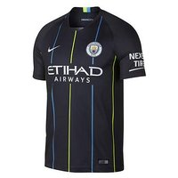 Boys, Nike Youth Manchester City Short Sleeved Away Stadium Jersey, Navy, Size S (8-9 Years)