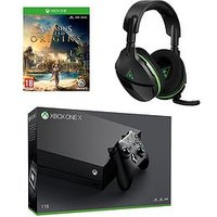 Xbox One X Console Plus Assassin Creed And Turtle Beach 600X Headset Plus Optional Extra Controller And/Or 12 Months Xbox Live -