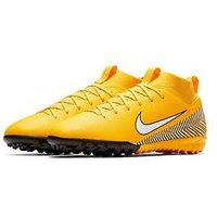 Nike Nike Junior Mercurial Superfly 6 Academy Neymar Astro Turf Football Boots, Amarillo/White Black, Size 2