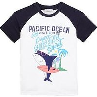 Mini V by Very Boys Surfing Shark Tee, White, Size Age: 6-9 Months