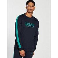 BOSS Authentic Crew Loungetop, Navy, Size 2Xl, Men