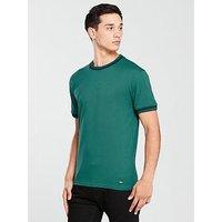 BOSS Ringer T-Shirt, Green, Size Xl, Men