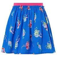 Monsoon Finella Flamingo Skirt, Blue, Size Age: 5-6 Years, Women