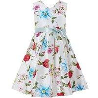 Monsoon Ladybird Print Dress, Multi, Size 4 Years, Women