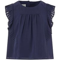 Monsoon Delila Top, Navy, Size Age: 4 Years, Women