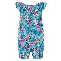 Monsoon Baby Cheska Playsuit, Green, Size 18-24 Months