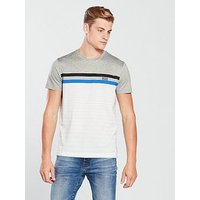 BOSS Stripe T-shirt, White/Black/Grey, Size Xl, Men