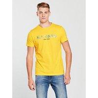 Tommy Hilfiger Tommy Sportswear Floral Logo T-Shirt, Yellow, Size 2Xl, Men