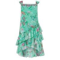 Monsoon Felicia Maxi Dress, Aqua, Size 6 Years, Women