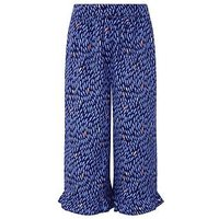 Monsoon Felice Culottes, Navy, Size Age: 5-6 Years, Women