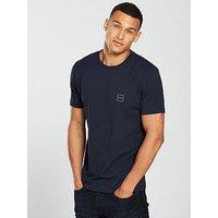 Boss Casual Crew Neck T-Shirt, Dark Blue, Size M, Men