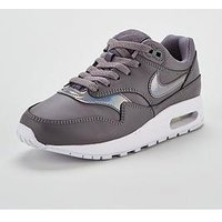 Nike Air Max 1 Junior - Grey/White , Grey/White, Size 3