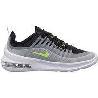 Nike Air Max Axis Junior Trainer - Grey/Black/Volt , Black/Volt, Size 3