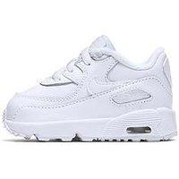 Nike Infant Air Max 90 Leather - White , White/White, Size 6