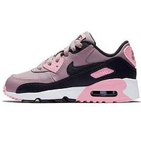 Nike Childrens Air Max 90 Ltr - Pink/Black  , Pink/Grey, Size 12