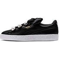 Puma Basket Bling - Black , Black, Size 5, Women