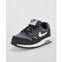 Nike Air Max 1 Infant Trainer, Black/Grey, Size 7
