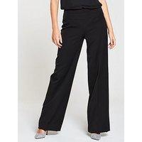 V by Very The Wide Leg Trouser - Black, Black, Size 12, Women