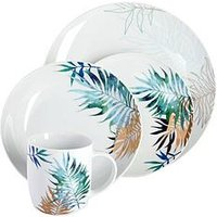 Waterside 16-Piece Luxe Leaf Dinner Set