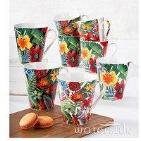 Waterside 8-Piece Tropical Mugs Set