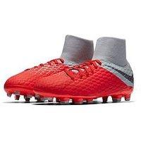 Nike Nike Junior Hypervenom Phantom 3 Dynamic Fit Academy Firm-ground Football Boot, Dark Grey, Size 3