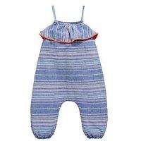 Mini V by Very Girls Neon Pom Pom Jumpsuit - Multi , Multi, Size 9-12 Months, Women