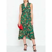 Whistles Francesca Capri Print Wrap Dress - Green