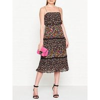 Whistles Skylar Peony Print Tiered Dress - Multicolour