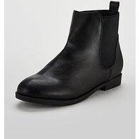 V by Very Girls Hannah Snake Trim Chelsea Boots - Black, Black, Size 4 Older