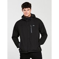 Trespass Accelerator Soft Shell Jacket, Black, Size S, Men