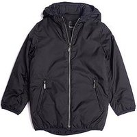 BARBOUR Boys International Draft Quilted Hooded Jacket, Black, Size Age: 12-13 Years