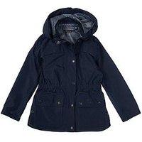 Barbour Girls Barometer Waterproof Breathable Jacket, Navy, Size 2-3 Years, Women