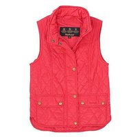 Barbour Girls Otterburn Quilted Gilet, Raspberry, Size 14-15 Years, Women