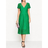 Ps Paul Smith Short Sleeve V Neck Lace Dress - Green