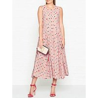 Ps Paul Smith Spot Pleat Detail Sleeveless Dress - Pink